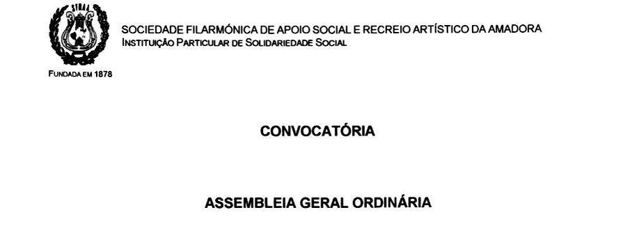 Convocatória – Assembleia Geral Ordinária 27 de Novembro de 2017