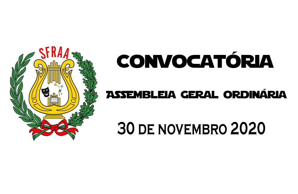Convocatória – Assembleia Geral Ordinária – 30 novembro 2020