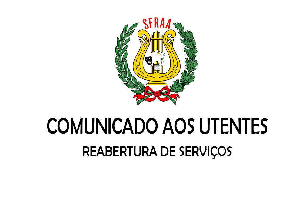 Comunicado – Reabertura de Serviços