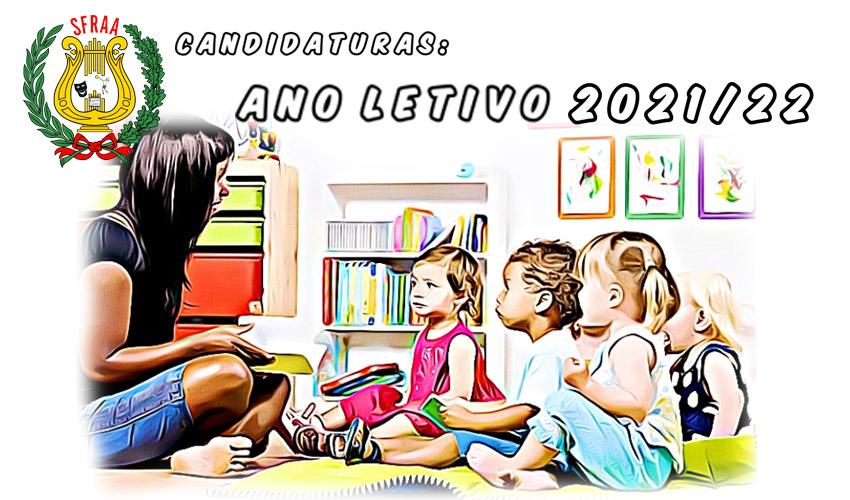 Candidaturas: Ano Letivo 2021/22 – Creche e Jardim de Infância